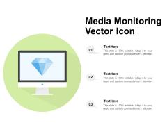Media Monitoring Vector Icon Ppt PowerPoint Presentation File Topics PDF