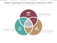 Media Objectives For Business Powerpoint Slide