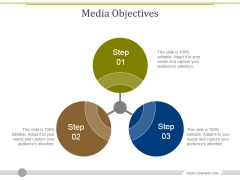 Media Objectives Template 1 Ppt PowerPoint Presentation Infographics Objects