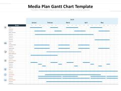 Media Plan Gantt Chart Template Ppt PowerPoint Presentation Portfolio Background Image PDF