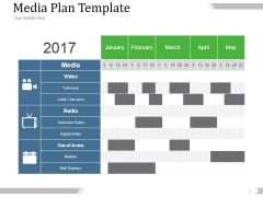 Media Plan Template 1 Ppt PowerPoint Presentation Deck