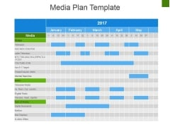 Media Plan Template 1 Ppt PowerPoint Presentation Gallery Graphics Download