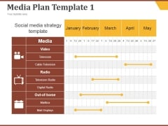 Media Plan Template 1 Ppt PowerPoint Presentation Inspiration