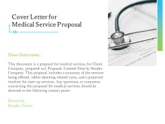 Medical And Healthcare Related Cover Letter For Medical Service Proposal Ppt Professional Grid PDF