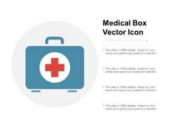 Medical Box Vector Icon Ppt Powerpoint Presentation Infographic Template Example File