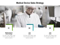 Medical Device Sales Strategy Ppt PowerPoint Presentation Portfolio Inspiration Cpb Pdf