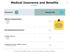 Medical Insurance And Benefits Ppt PowerPoint Presentation Background Image