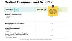 Medical Insurance And Benefits Ppt PowerPoint Presentation Styles Inspiration