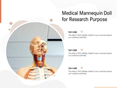 Medical Mannequin Doll For Research Purpose Ppt PowerPoint Presentation Gallery Background PDF