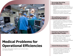 Medical Problems For Operational Efficiencies Ppt PowerPoint Presentation Gallery Deck PDF