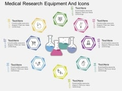 Medical Research Equipment And Icons Powerpoint Template