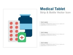 Medical Tablet Strip And Bottle Vector Icon Ppt PowerPoint Presentation Pictures Skills