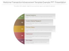 Medicinal Transaction Advancement Template Example Ppt Presentation
