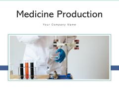 Medicine Production Process Pharmaceutical Ppt PowerPoint Presentation Complete Deck
