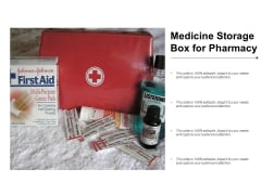 Medicine Storage Box For Pharmacy Ppt Powerpoint Presentation Gallery Aids