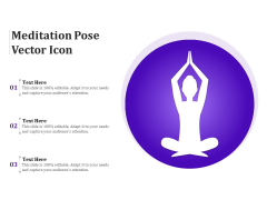 Meditation Pose Vector Icon Ppt PowerPoint Presentation Infographic Template Layout Ideas PDF