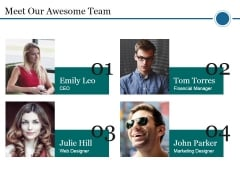 Meet Our Awesome Team Ppt PowerPoint Presentation Inspiration Pictures