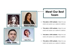 Meet Our Best Team Ppt PowerPoint Presentation Summary Show
