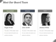 Meet Our Board Team Ppt PowerPoint Presentation Templates