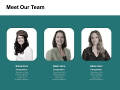 Meet Our Team Communication Ppt PowerPoint Presentation Deck