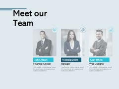 Meet Our Team Communication Ppt PowerPoint Presentation Design Templates