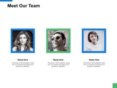 Meet Our Team Communication Ppt PowerPoint Presentation File Format Ideas