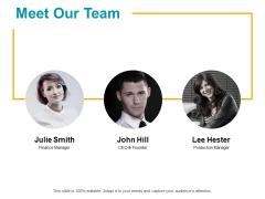 Meet Our Team Communication Ppt PowerPoint Presentation Ideas Influencers