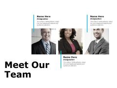 Meet Our Team Communication Ppt PowerPoint Presentation Infographics Template