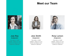 Meet Our Team Communication Ppt PowerPoint Presentation Layouts Background Images