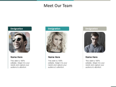 Meet Our Team Communication Ppt Powerpoint Presentation Outline Summary