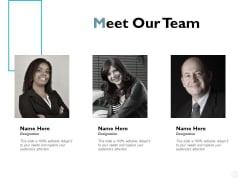 Meet Our Team Communication Ppt PowerPoint Presentation Styles Designs