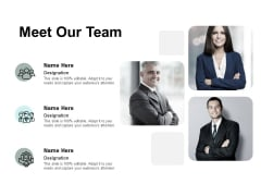 Meet Our Team Introduction Ppt PowerPoint Presentation Gallery Design Ideas
