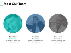Meet Our Team Introduction Ppt PowerPoint Presentation Infographic Template Gridlines
