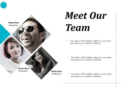 Meet Our Team Introduction Ppt PowerPoint Presentation Layouts Mockup