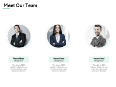 Meet Our Team Introduction Ppt PowerPoint Presentation Summary Ideas