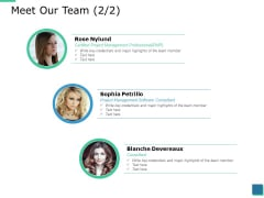 Meet Our Team Planning Ppt PowerPoint Presentation Gallery Layouts