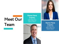 Meet Our Team Planning Ppt PowerPoint Presentation Model Summary