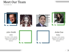 Meet Our Team Ppt PowerPoint Presentation Background Images