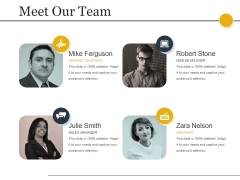 Meet Our Team Ppt PowerPoint Presentation File Brochure