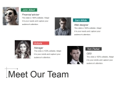 Meet Our Team Ppt Powerpoint Presentation File Images