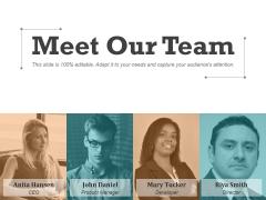 Meet Our Team Ppt PowerPoint Presentation Icon Portfolio