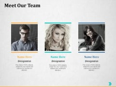 Meet Our Team Ppt PowerPoint Presentation Ideas Example Introduction