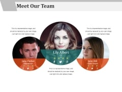 Meet Our Team Ppt PowerPoint Presentation Ideas Shapes
