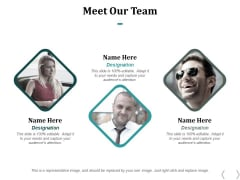 Meet Our Team Ppt PowerPoint Presentation Infographic Template Demonstration