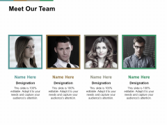 Meet Our Team Ppt PowerPoint Presentation Infographics Clipart