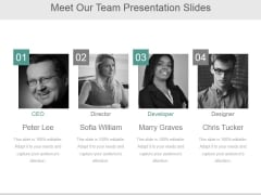 Meet Our Team Ppt PowerPoint Presentation Inspiration