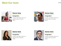 Meet Our Team Ppt PowerPoint Presentation Model Files