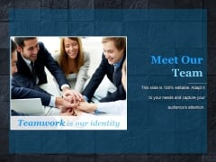 meet our team ppt powerpoint presentation model graphics