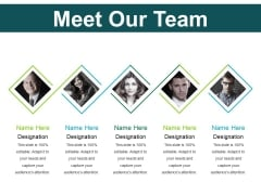 Meet Our Team Ppt PowerPoint Presentation Outline Background Images