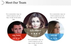Meet Our Team Ppt PowerPoint Presentation Pictures Portrait